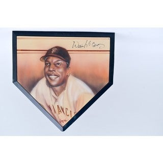Willey McCovey Autographed Home Plate with Portrait