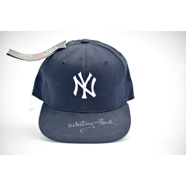 Whitey Ford Autographed NY Yankees Baseball Hat
