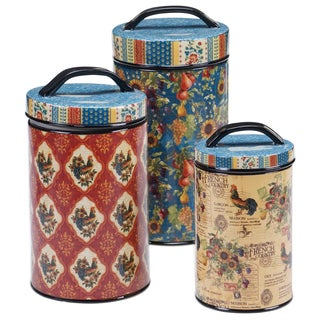 Certified International - French Country 3 Piece Canister Set