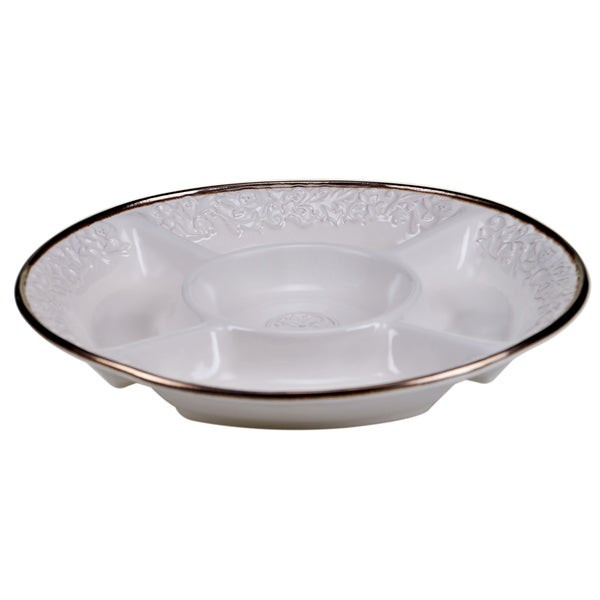 Certified International - Solstice Cream Chip & Dip Bowl 15-inch