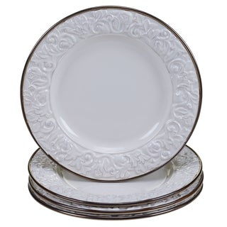 Certified International - Solstice Cream 11-inch Dinner Plates (Set of 4)