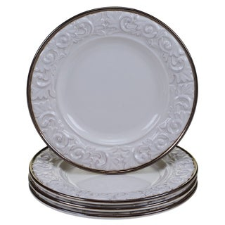 "Certified International - Solstice Cream 8.75"" Salad/Dessert Plates (Set of 4)"