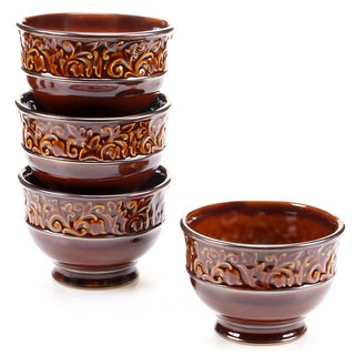 "Certified International - Solstice Brown Ice Cream Bowls 5.5"" x 3.75"" (Set of 4)"