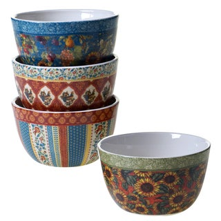 """Certified International - French Country Ice Cream Bowls, 5.25"""" x 3"""" (Set of 4)"""