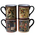 Certified International French Country 16-ounce Mugs (Set of 4)