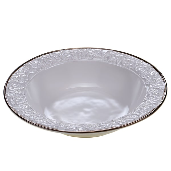 "Certified International - Solstice Cream Serving/Pasta Bowl 14"" x 2.75"""