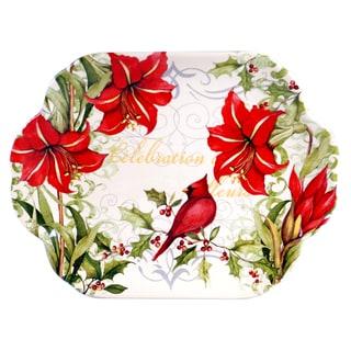 "Certified International - Botanical Christmas Rectangular Platter 18.25"" x 14"""