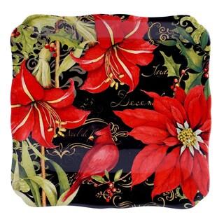 Certified International - Botanical Christmas Square Platter 12.5-inch