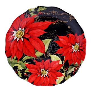Certified International - Botanical Christmas Round Platter 13-inch