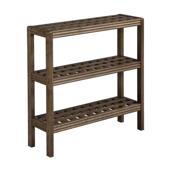 Somette Beaumont Chestnut 3-shelf Console/ Shoe Rack