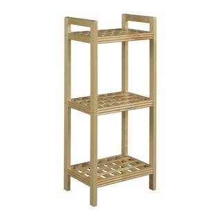 Somette Beaumont Solid Birch Wood Blonde Shelf Tower