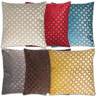 Velvet Soft Hexagon 18-inch Throw Pillows (Set of 2)