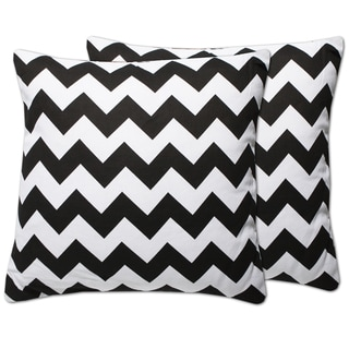 Decorative Chevron 18-inch Throw Pillows (Set of 2)