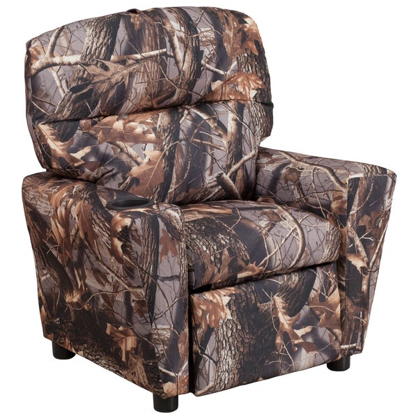 Camo Fabric Kids Recliner
