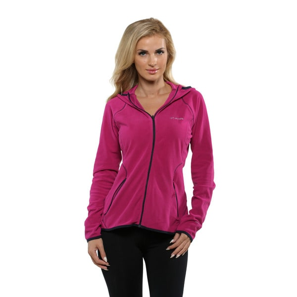 Columbia Women's Groovy Pink Summit Rush Full Zip Hoodie
