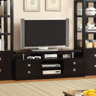 Furniture of America Bausley Modern Black 66-inch TV Console