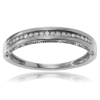 Journee Collection Sterling Silver 1/5 ct Diamond Wedding Band