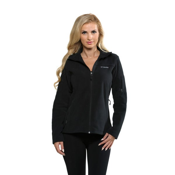 Columbia Women's Black Fast Trek II Full Zip Fleece (Small)