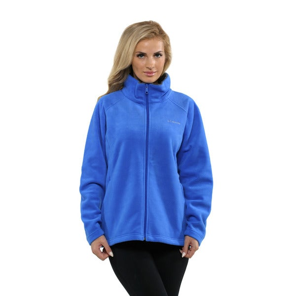Columbia Women's Blue Dotswarm II Fleece Full Zip (Large)