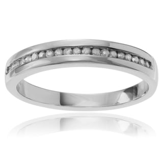 Journee Collection Sterling Silver 1/5 ct Diamond Anniversary Band