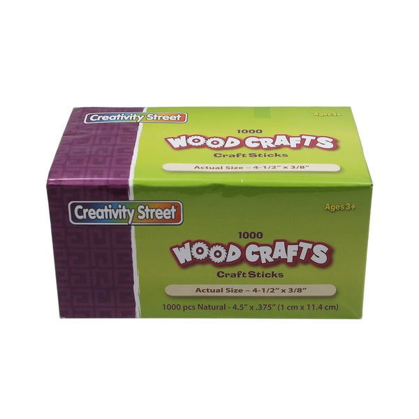 1000-piece Natural Craft Sticks