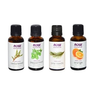 Now Foods Essential Oils Christmas Scent Pack of 4 (Peppermint, Cedarwood, Pine, Orange)