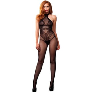 Women's Floral Lace Hourglass Bodystocking