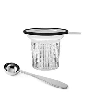 Mind Reader 'Fuse' Stainless Steel Loose Leaf Tea Infuser with Lid, Silver/ Black