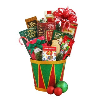 California Delicious Holiday Sweets Drum Gift Basket