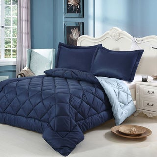 Down-alternative 3-piece Reversible Comforter Set