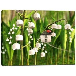 Cortesi Home 'Lily of the Valley' by Cynthia Decker Giclee Canvas Wall Art