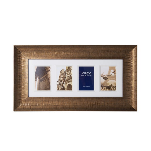 Mikasa Antique Gold Frame Photo Collage for Four 4x6 Photos