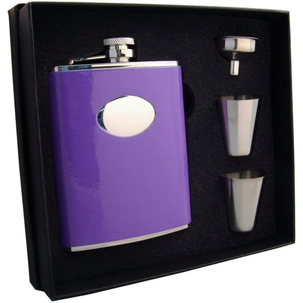Visol Orchid Purple Supreme Flask Gift Set - 6 ounces 16736313