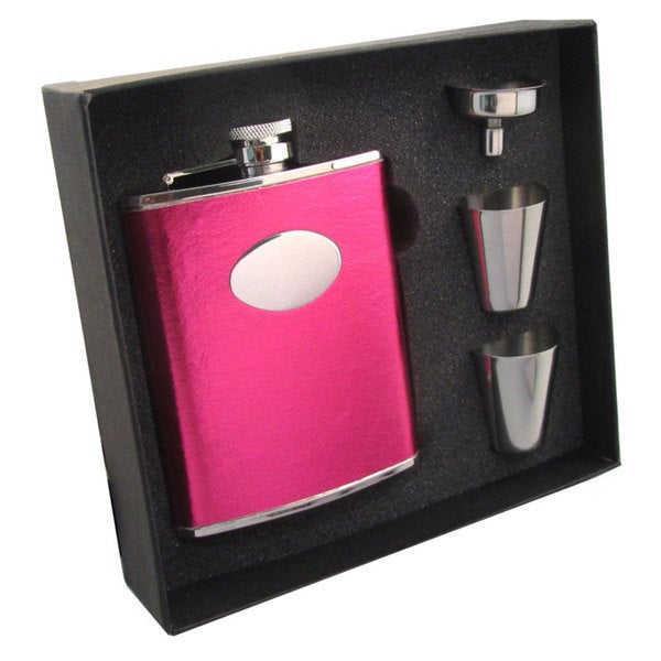 Visol Lydia Hot Pink Supreme Flask Gift Set - 6 ounces