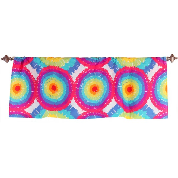 One Grace Place Terrific Tie Dye Valance