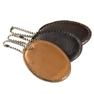 Piel Leather Oval Bag Tag