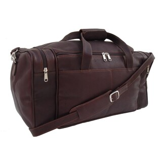 Piel Leather Chocolate Small Duffel Bag