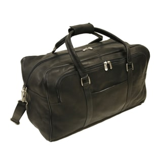 Piel Leather Chocolate Half-Moon Duffel Bag