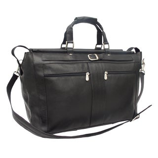Piel Leather Carpet Bag with Pockets