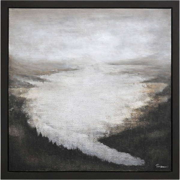 The River Bend Framed Hand-painted Canvas