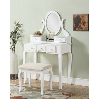 Silver bedroom furniture shop the best deals for sep for Furniture of america ailees contemporary glam 2 piece vanity table set with faux fur stool