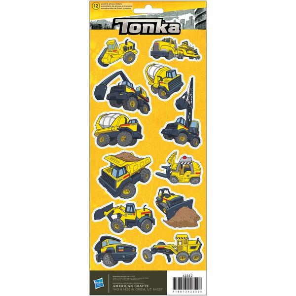 "Cardstock Stickers 4.75""X12"" Sheet-Tonka Construction"