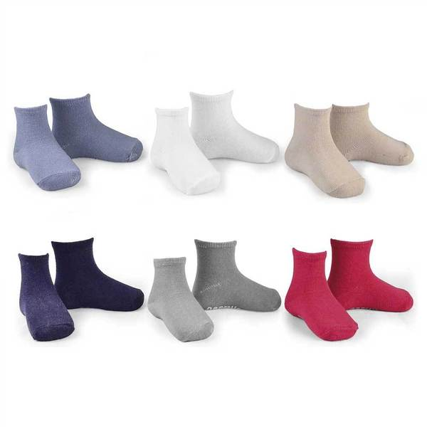 Naartjie Boys Cotton Short Crew Socks Assorted Colors 6-Pack