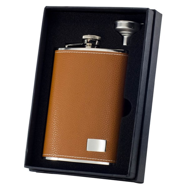Visol Wrangler Tan Essential II Flask Gift Set - 8 ounces