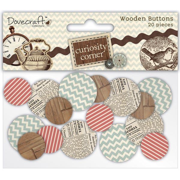 Curiosity Corner Wooden Buttons