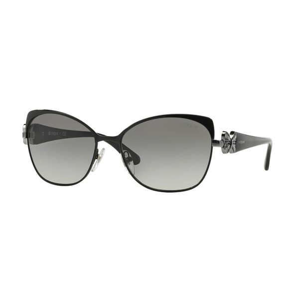 Vogue Women's VO3967S Black Metal Cat Eye Sunglasses