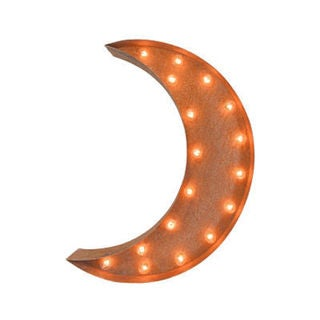 Indoor/Outdoor 2-foot Crescent Moon Marquee Light