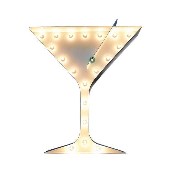 Indoor/Outdoor 2-foot Martini Glass Marquee Sign