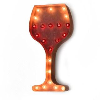 Indoor/ Outdoor Commercial Grade 2 ft. Steel Wine Glass Marquee Light
