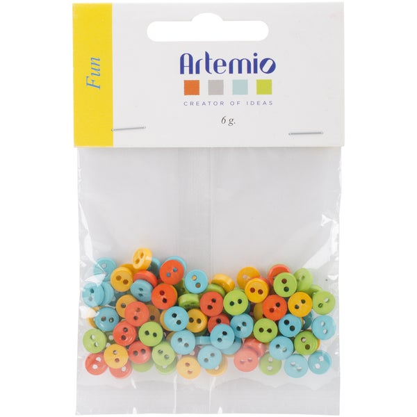 "Artemio Mini Round Buttons .28""-Fun"